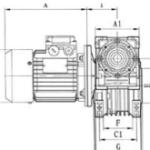 Двухступенчатый червячный мотор-редуктор DRV